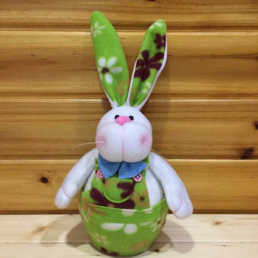 18CM High Quality Table Easter Decoration_A Couple Easter Bunny