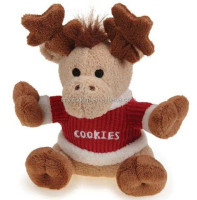 MERRY MOOSE Holiday Toy Christmas Xmas Holiday Plush Toy