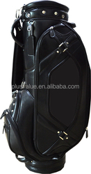 wholesale high quality custom handmade PU leather leather golf cart bags