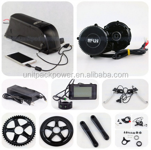 48V 750W Bafang Electrci Center Crank Mid Drive Motor With 12Ah Li ion Battery