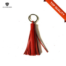 High Quality Hot Selling Custom Leather Tassel Keychain Wholesale