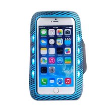 LED Night Reflective Fashion Sports Gym Exercise Armband Case Cover With LED Lights For iPhone 7 Plus 5.5 Inch