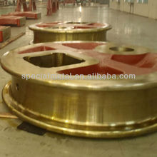 High quality alloy steel forged / cast crane wheel