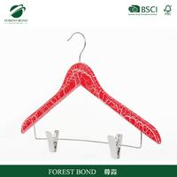 Welcome wholesales new arrival pet wood clothes hanger