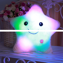 2017 Hot Sell Colorful Lucky Star Pillow Pentagram LED Light Pillow Soft Plush Cusion