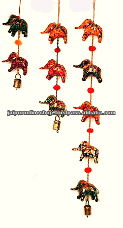 Five Elephant Indian Handmade Mobile Wall Hanging/Door Hanging/Childs Bedroom