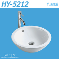 China Ceramic Sink In Bathroom No Faucet Hole Art Basin Round Sink