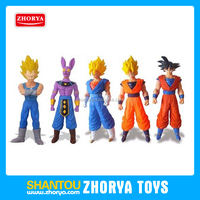 "17"" Japanese cartoon figure 5 style Kakarot Vegeta model with light and sound plastic dragon ball z action figure"