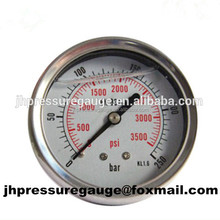 Welding oxygen pressure gauge, pressure regulator gauge 0-250bar/0-3500psi