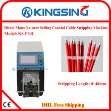 High Accuracy Electric Coaxial Cable Stripping Machine with durable cutting knife, no damage to the core KS-P601