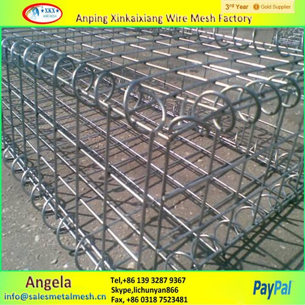 Hot galvanized welded 2m x 1m x 1m gabion, gabion basket for sale