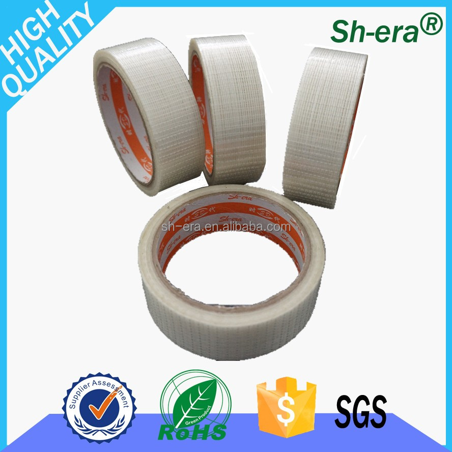 hot sell cheap wholesale high temperature waterproof material fiberglass mesh tape Single Sided for Metal packaging free samples