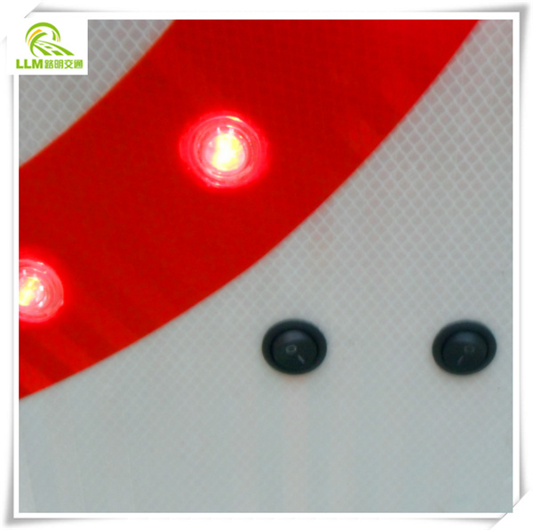 Traffic safety speed limited solar powred LED signal signs