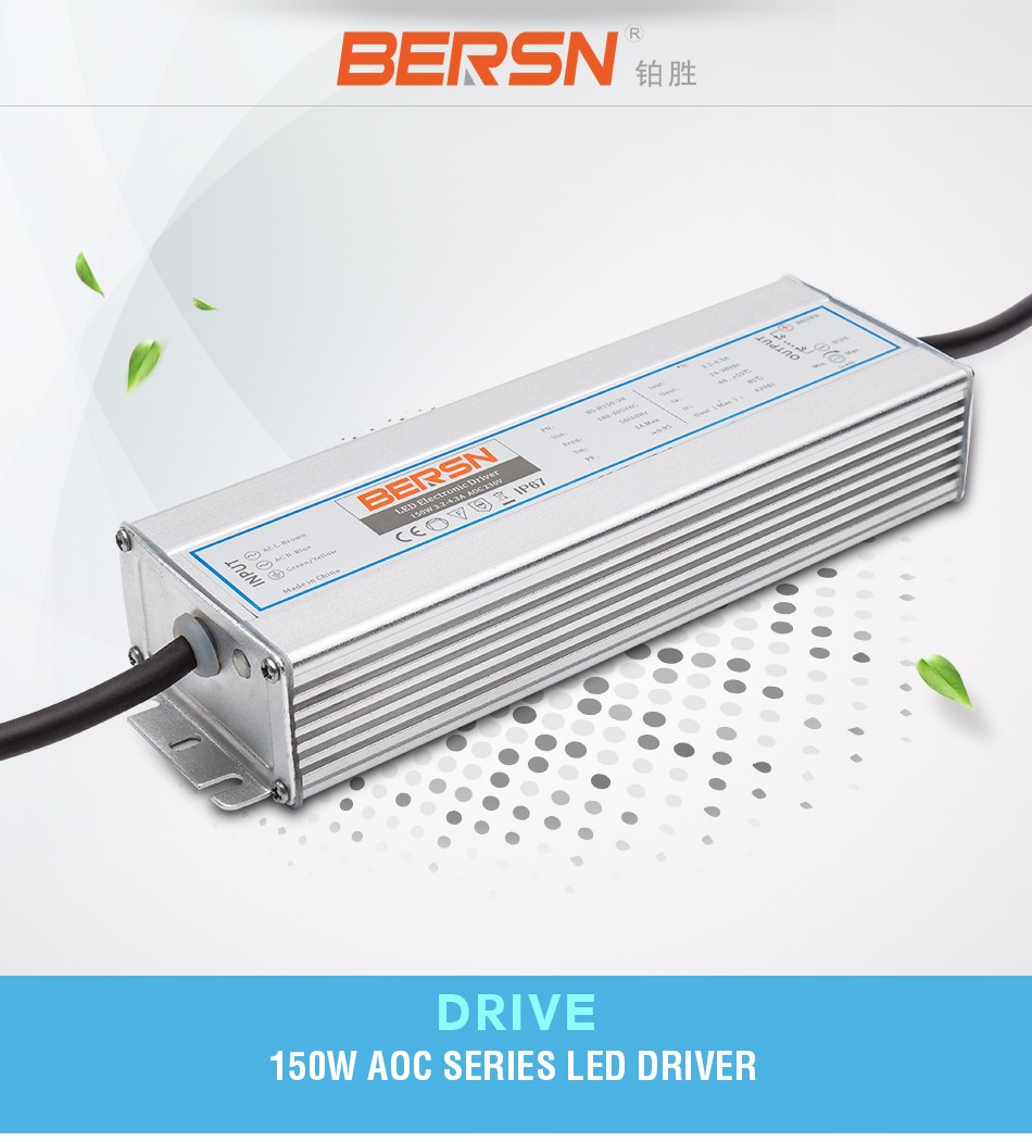 good quality waterproof single output switch power supply 150w 3300ma 36v led power supply IP67
