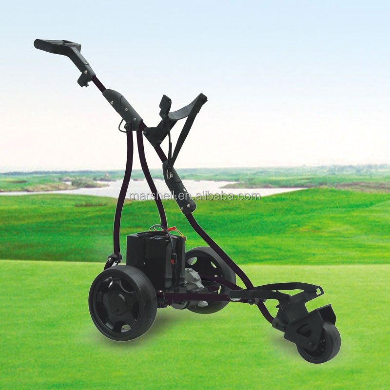 DG12150-A easy carry electric golf trolley with 3 wheels from manufacturer