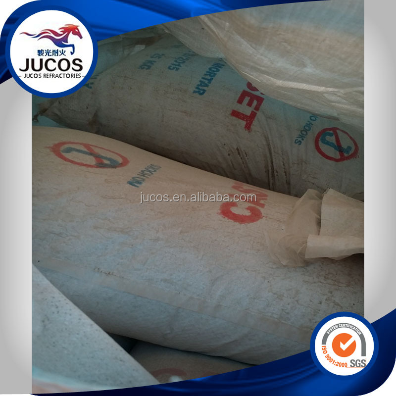 High alumina clay insulation refractory mortar for furnace