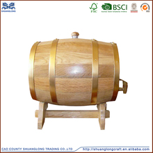 made in china pine or oak used whiskey/wine barrels