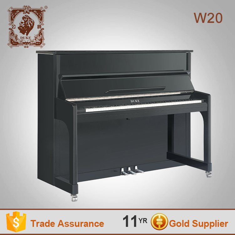 Duke 88 keys upright piano W20 black polish high quality chinese pianos