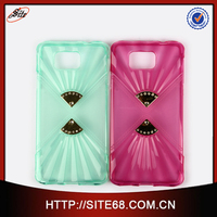 2015 Fashion Design TPU Dual Diamond Mobile Phone Accessory for Samsung G8508S Case 4.7 Inch
