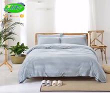 Cotton comforter sets on sale adult high quality printed light blue duvet cover double bedding set