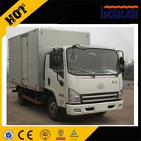 FAW 4x2 5 tons cargo box truck small van cargo truck for sale