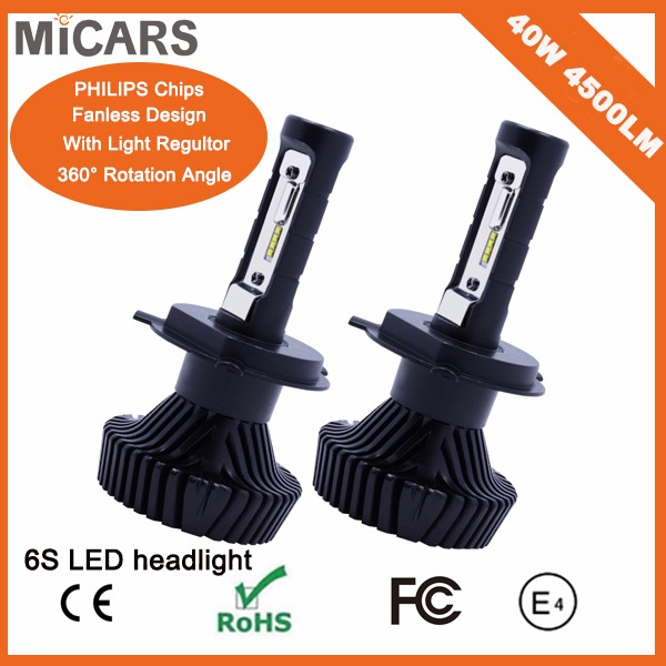 High Power Model Led Bulb H4 H7 12V 40W Led Light Headlight