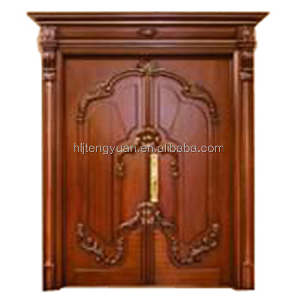 Factory Price Red Oak Security Steel Wooden Door