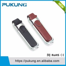 Promotional Price High Quality Steel Leather Usb Flash Drives