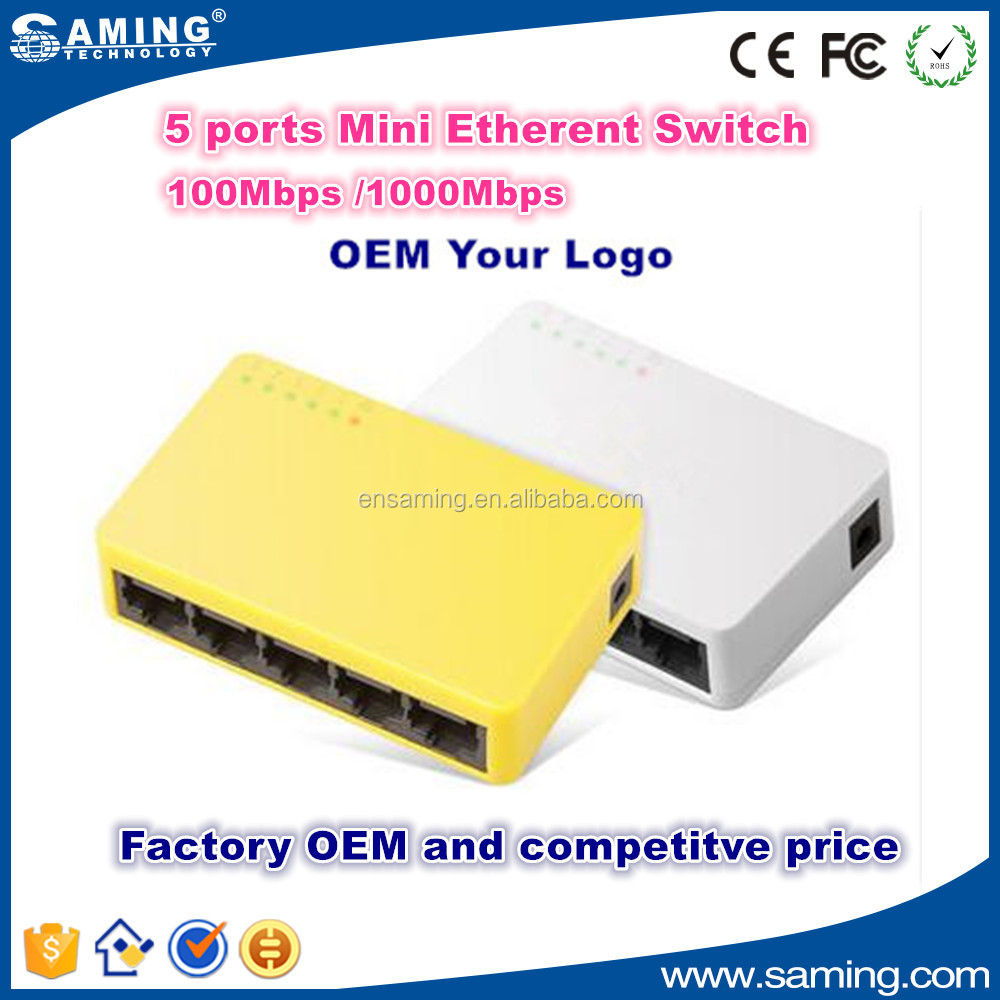 Hot sale Home use 5 port 1000Mbps Ethernet Switch / Network Switch