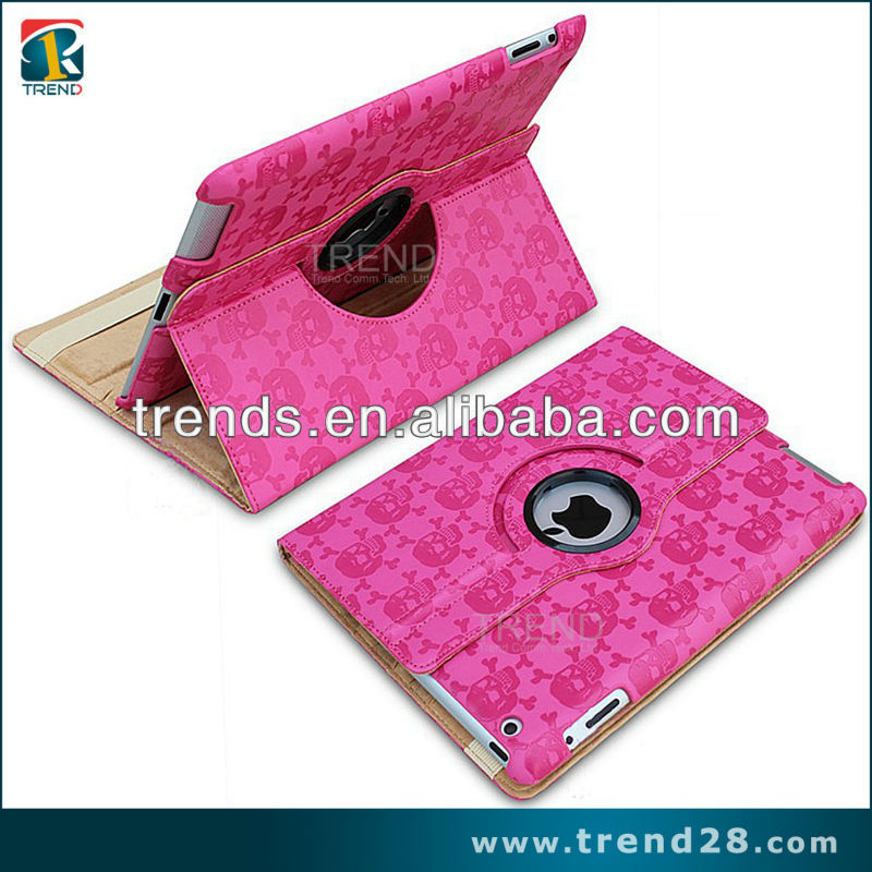 skull tablet case for ipad 3 case new product