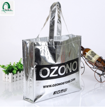 Eco Friendly Recyclable Aluminum sliver Foil PP Nonwoven Shopping Bag for garment