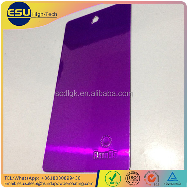High glossy luminous candy purple transparent powder <strong>coating</strong>