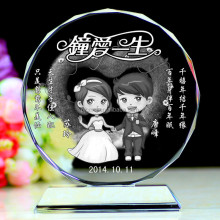 special love crystal image for wedding decoration or souvenirs