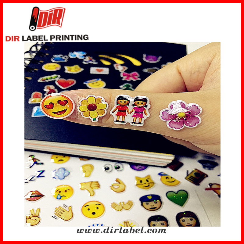 Wholesale custom self adhesive pack emoji led mobile phone flashing sticker