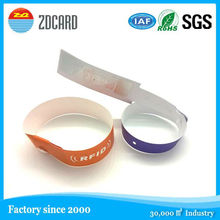 multip color NFC ntag203 disposable rfid paper wristband for events