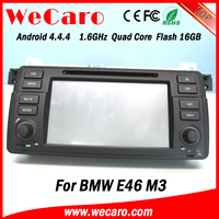 Top Version Android 4.4.4 multimedia system 1024 * 600 touch screen car dvd for bmw e46 mirror link GPS
