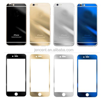 plated mirror color tempered glass screen protector for iphone 6