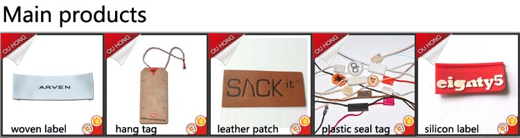 Durable Eco-friendly Black Fake Artificial Imitation Faux Leather Label Patch