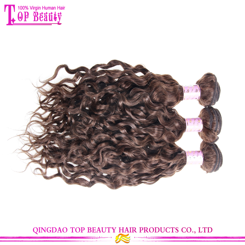 Chocolate Brown Natural Curly Hair Weave 7a Brazilian Unprocessed Virgin Hair Extensions