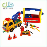 Wholesale China ManufuctureTake A Part Tow Truck & Tool Box Set & motor skill toy
