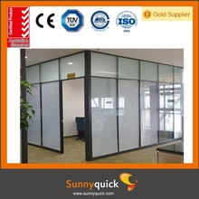 newest double single side high partition with glass or laminate board custom made office full height partition wall