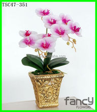 9 heads artificial orchid preserved fresh flower for home decor