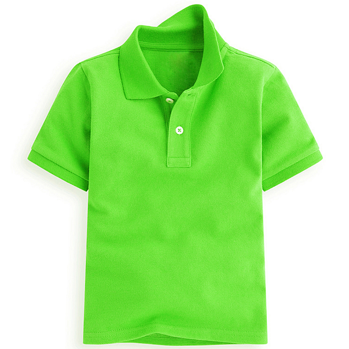 Byval Hot Sale Kid's Green Plain Polo Shirt High Quality 100%Cotton Polo Shirt for boy