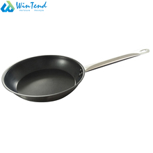 Long handle large non stick frying pan with lid for houseware
