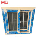 Double glzing window with security mesh sliding window grill design