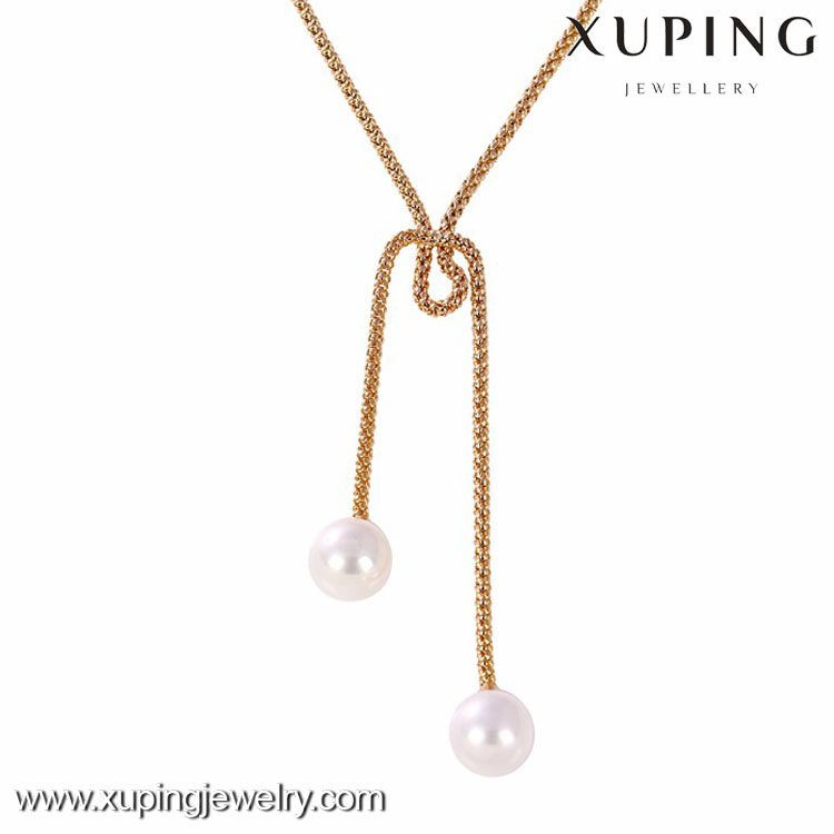 41246 -Xuping Imitation fake necklaces pearl designs for women