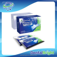 Hot sale foil package teeth whitening strips mint flavor non peroxide gel
