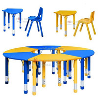 School Furniture Height Adjustable Kids Table And Chair