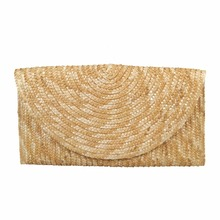 Wholesale newest design wheat straw clutch bag