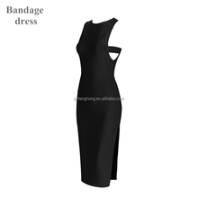 2017 New Women Beige Black Pink Bodycon Sexy Evening Party Bandage Dress Wholesale